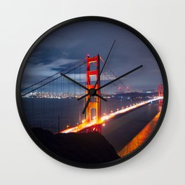 Golden Gate Bridge at Night | San Francisco, CA Wall Clock