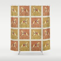 victorian Shower Curtains featuring Victorian by LittleBirds