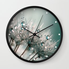 Pretty Dewdrops Wall Clock