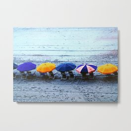 Myrtle Beach Umbrellas Metal Print