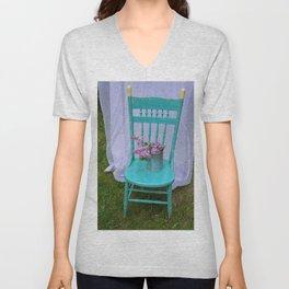 Seated Lilacs Unisex V-Neck