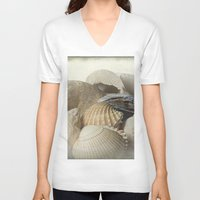 shells V-neck T-shirts featuring Shells by Fran Walding