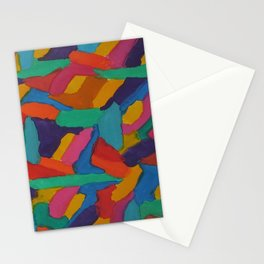 Jewel Tones and Brushstrokes Stationery Cards