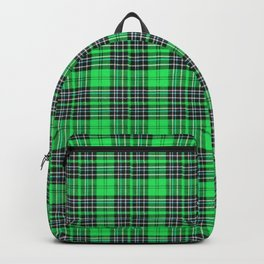 Lunchbox Green Plaid Backpack