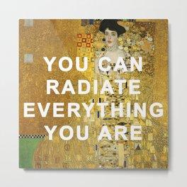 Radiant Adele Bloch-Bauer I Metal Print