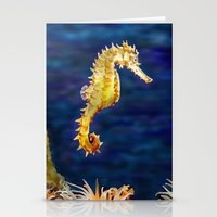 sea horse Stationery Cards featuring Sea horse by Michelle Behar
