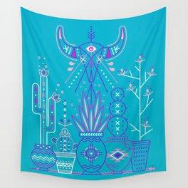 Santa Fe Garden – Blue & Purple Wall Tapestry