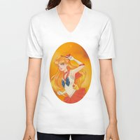 sailor venus V-neck T-shirts featuring Sailor Venus by Tae V