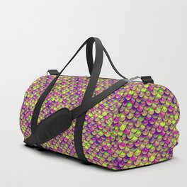 Purple Green Scales Duffle Bag