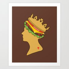 Burger Queen aka Royal With Cheese Art Print