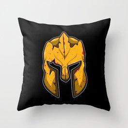 Spartan Helmet - Warrior Guard Throw Pillow