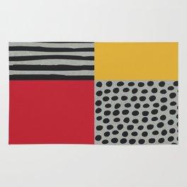 Earth Tone, Red Orange Pattern, Scandinavian Design Rug