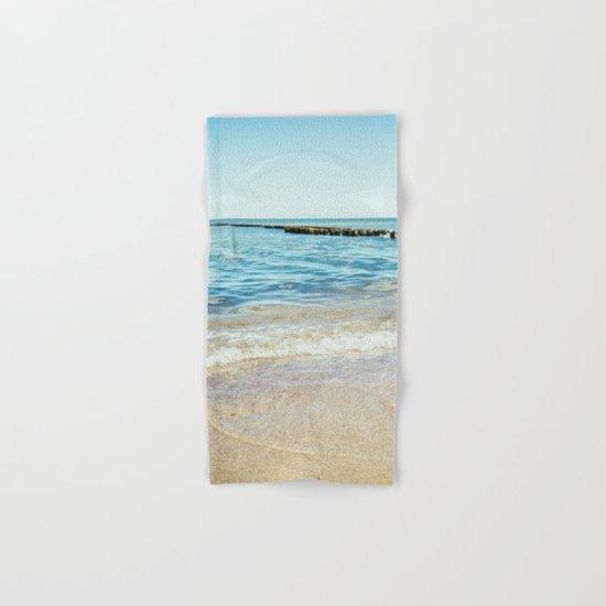 Wave Closeup At Blue Sea Hand & Bath Towel