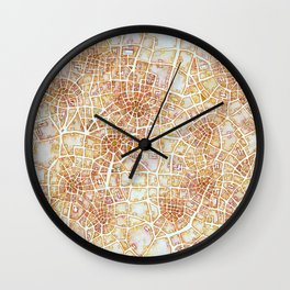 Antique Plans (Cityspace #181) Wall Clock