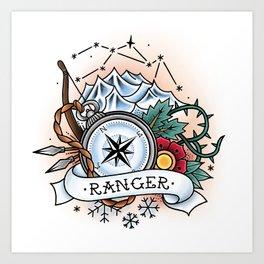 Ranger - Vintage D&D Tattoo Art Print