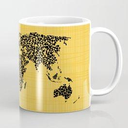Yellow world map Coffee Mug
