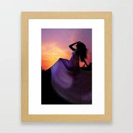 A Vision in Sunset Framed Art Print
