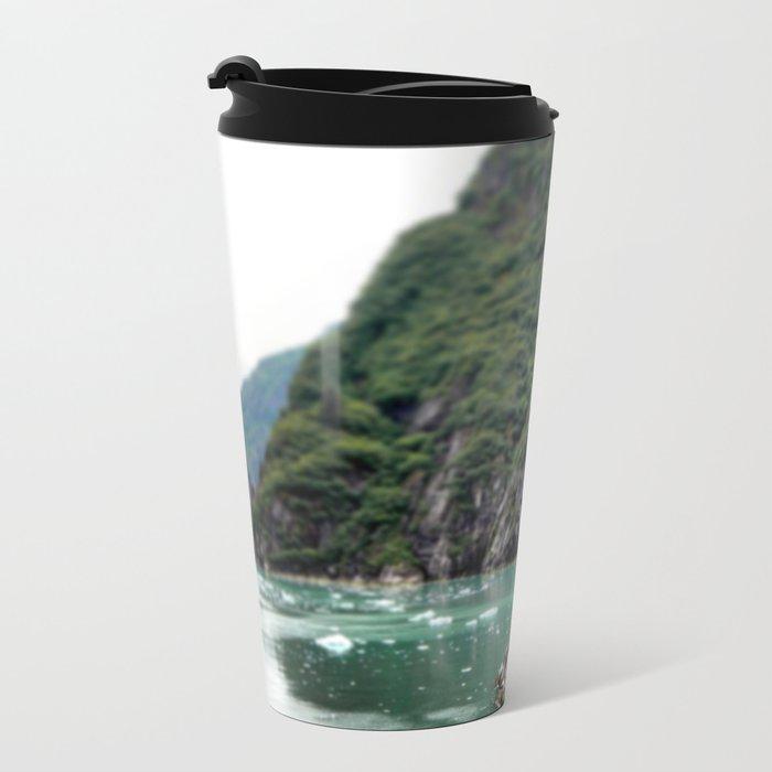 Mountain Meets the Ocean Metal Travel Mug