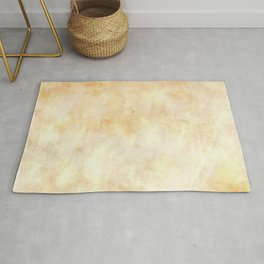 Old yellow brown parchment Rug