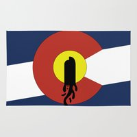 denver Area & Throw Rugs featuring Denver, Colorado by HighTribe