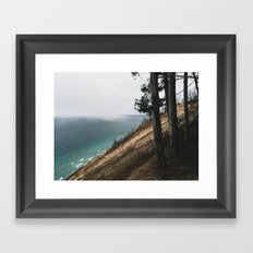 Storm cell over Lake Michigan Framed Art Print
