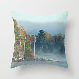 Morning Glory in the Adirondacks Throw Pillow