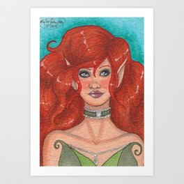 Red-haired Elf Art Print