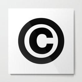 Copyright Sign (Black & White) Metal Print