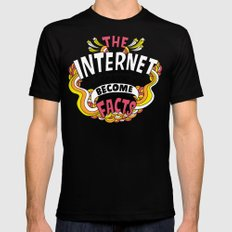 The Internet. Mens Fitted Tee Black SMALL