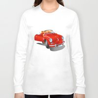 porsche Long Sleeve T-shirts featuring Porsche by Paola Canti