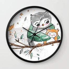 Magic Owls Wall Clock