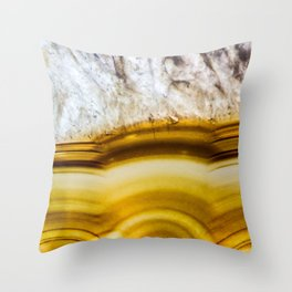 Amber Honey Agate Earth Throw Pillow
