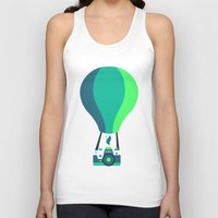 baloon Tank Tops featuring Camera-baloon BLACK by GioDesign