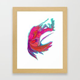 Bright abstract butterfly Framed Art Print