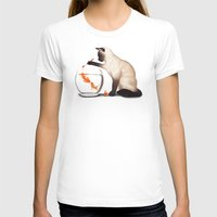 ashton irwin T-shirts featuring Goldfish need friend by Tummeow