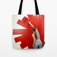 redhead Tote Bags featuring Redhead by Twilight Productions