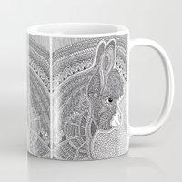 donkey Mugs featuring Donkey by Olya Goloveshkina