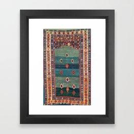 Sivas Antique Turkish Niche Kilim Print Framed Art Print