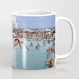 Rio Motel Pool with Trampolines. A 1960's photograph. Wildwood, New Jersey Coffee Mug