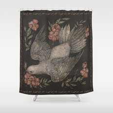 Dove and Flowers Shower Curtain