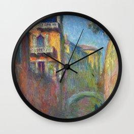 Rio della Salute by Claude Monet Wall Clock
