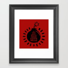 One, Two, Three, Four Framed Art Print