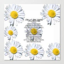 Daisy Flower with Christian Faith Base Poem Canvas Print