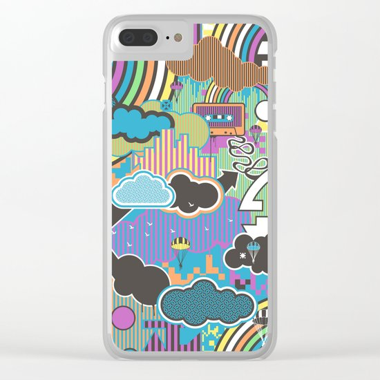 Love Robot Clear iPhone Case