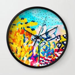 Floral Graffiti #society6 #decor #buyart Wall Clock