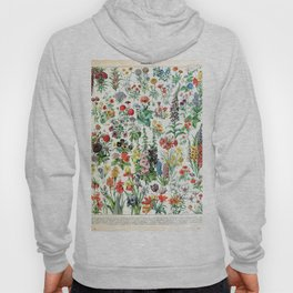 Adolphe Millot - Fleurs A - French vintage poster Hoody