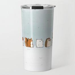 Winter forest animals Travel Mug