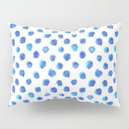 Watercolor Tie Dye Dots in Indigo Blue Pillow Sham