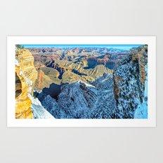 Winter Morning South Rim Panorama Art Print