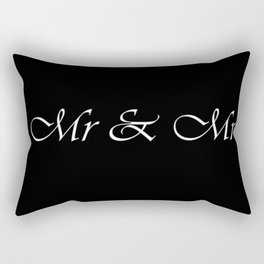 Mr & Mr Monogram Cursive Rectangular Pillow